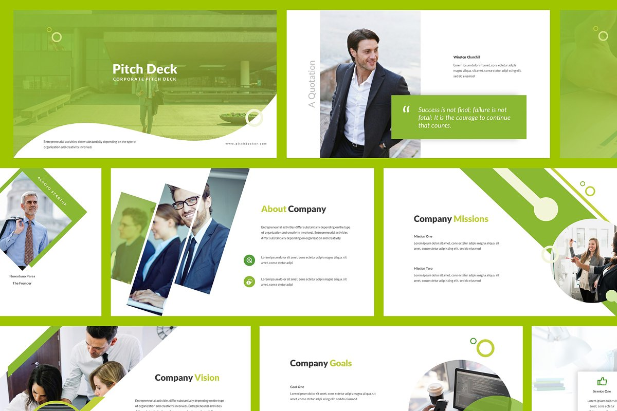 Minimal Corporate Pitch Deck PowerPoint Template