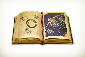 Old astrology book