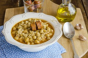 garbanzos con arroz
