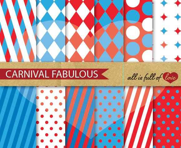 carnival fair background papers graphic patterns creative market