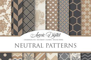 Neutral Patterns Digital Paper
