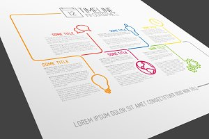 Timeline Vector Template