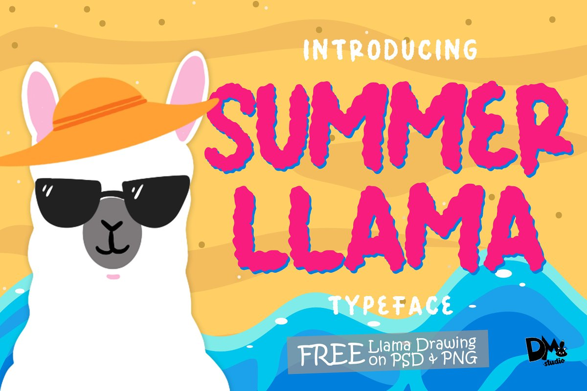 Summer Llama - Extra Llama Drawing