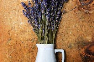 Lavender herbs in vase
