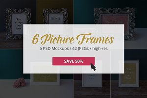 Picture Frame Mockups -50% ValuePack