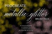 Metallic Glitter Brush Pack