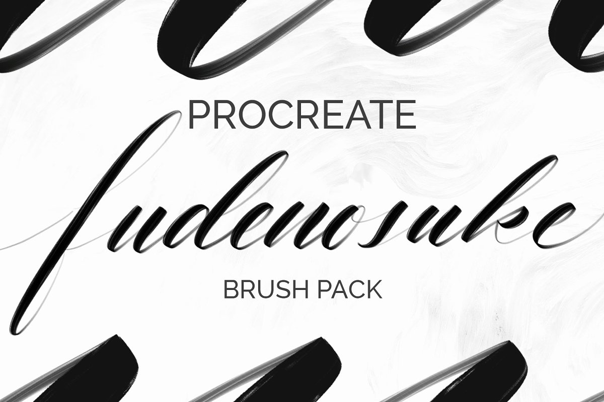 Fudenosuke Brush Pack - PROCREATE in Add-Ons - product preview 8