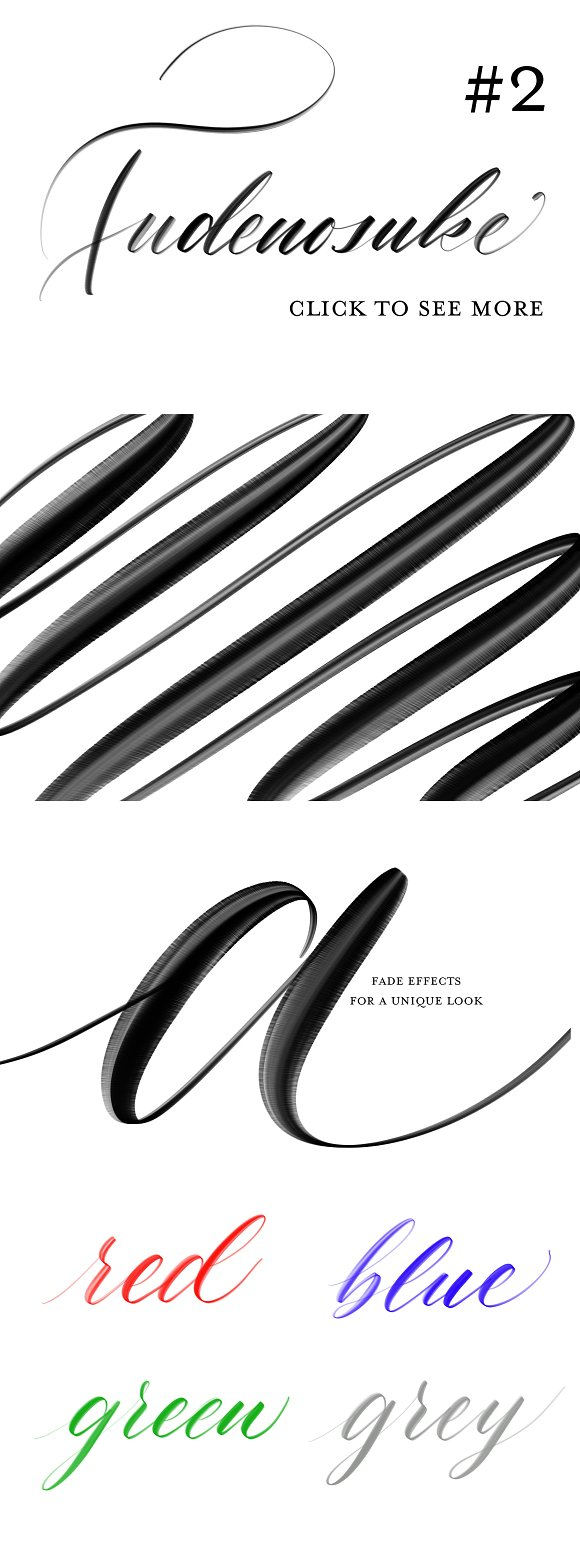 Fudenosuke Brush Pack - PROCREATE in Add-Ons - product preview 2
