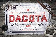 Dacota Layered Typeface + Extras