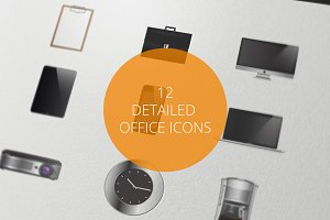 12 Detailed Office Icons