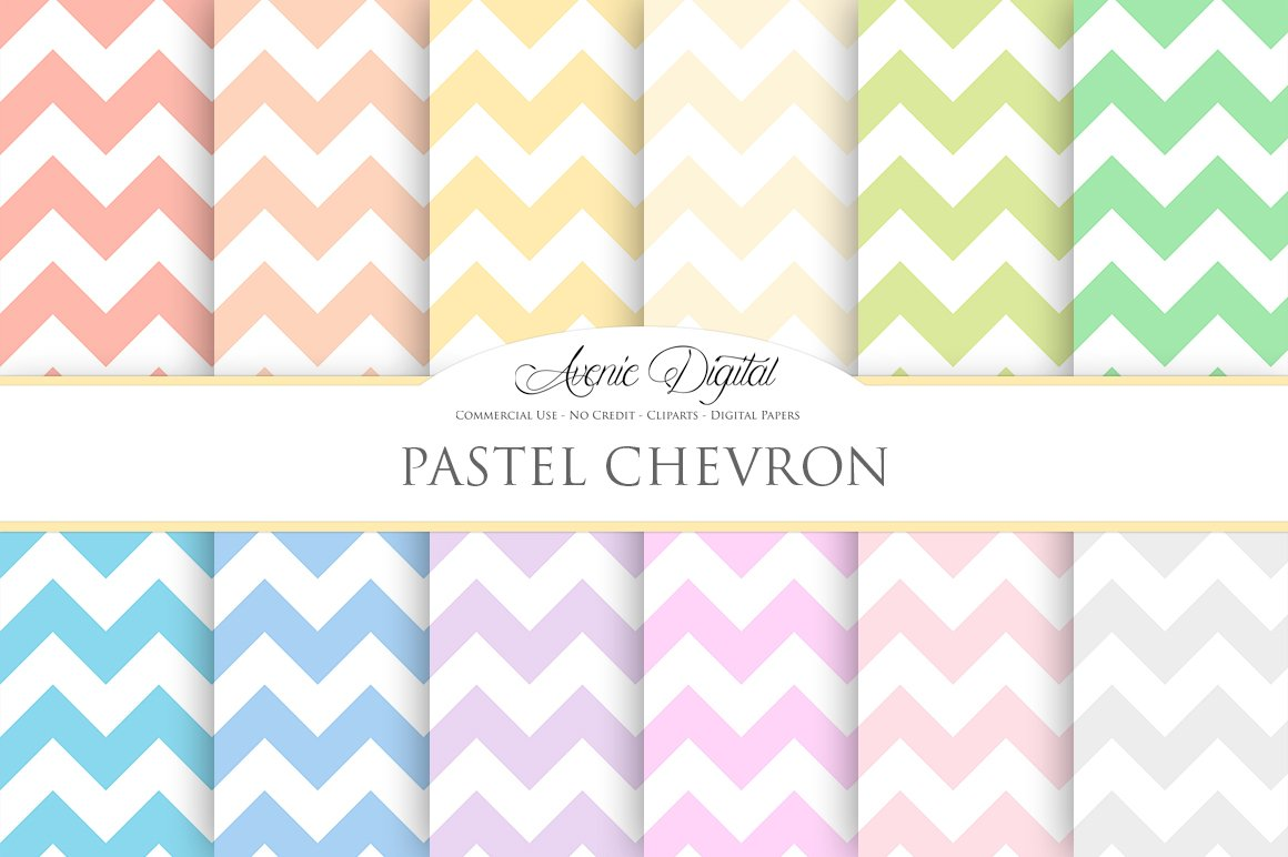 pastel chevron digital paper graphic patterns creative market