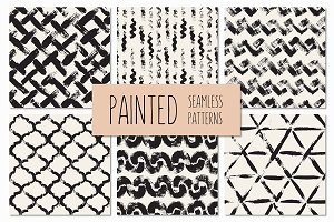 Painted Seamless Patterns Set 2