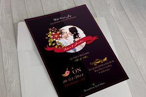 Blueberry Wedding Invitation & RSVP