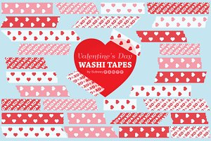 Valentine Pink & Red Washi Tapes
