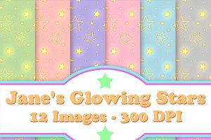 Glowing Stars Digital Paper