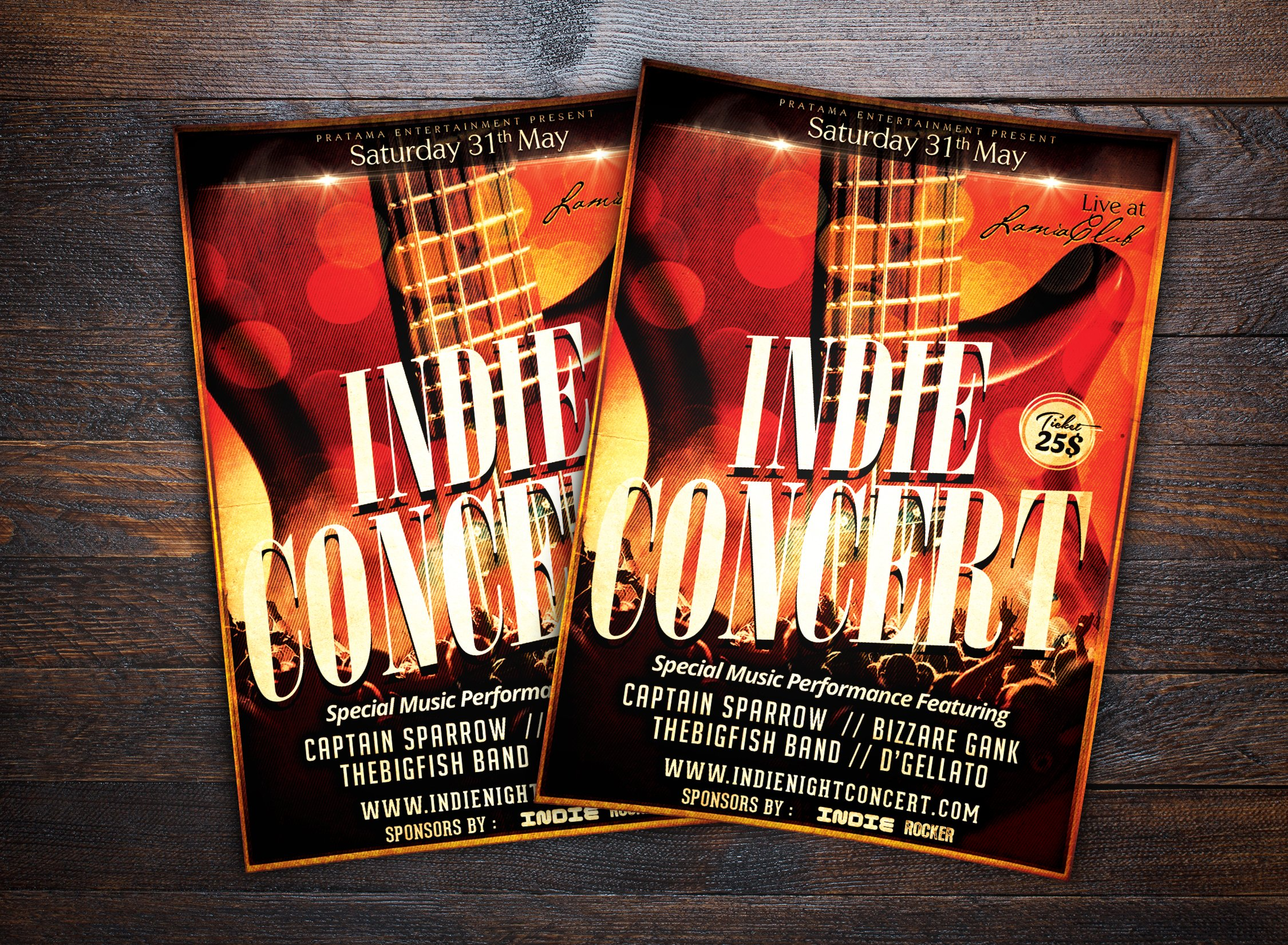 Indie Show Music Concert Flyer Flyer Templates Creative Market