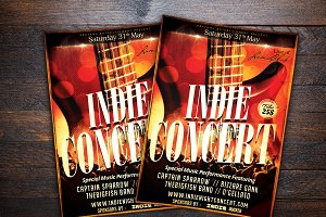 Indie Show Music Concert Flyer
