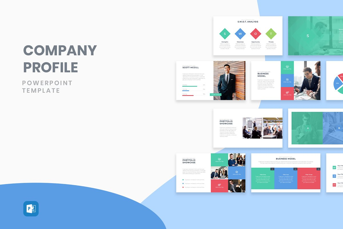 Company Profile Powerpoint Template Powerpoint Templates