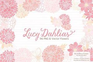 Soft Pink Dahlia Clipart & Vectors