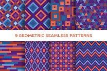 9 Geometric seamless patterns