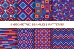 9 Geometric seamless patterns