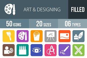 50 Art & Designing Flat Round Corner