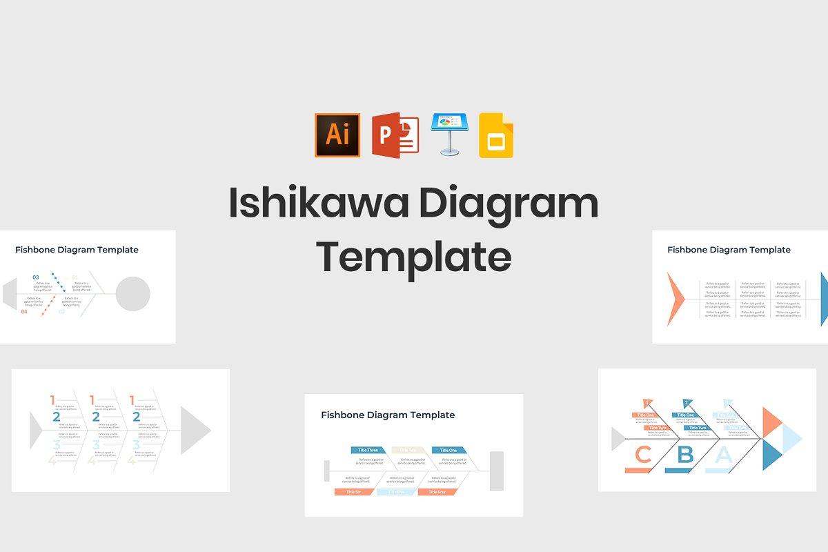Ishikawa Diagram Template Keynote Templates Creative Market