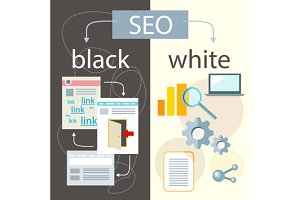 SEO Optimization, Black and White