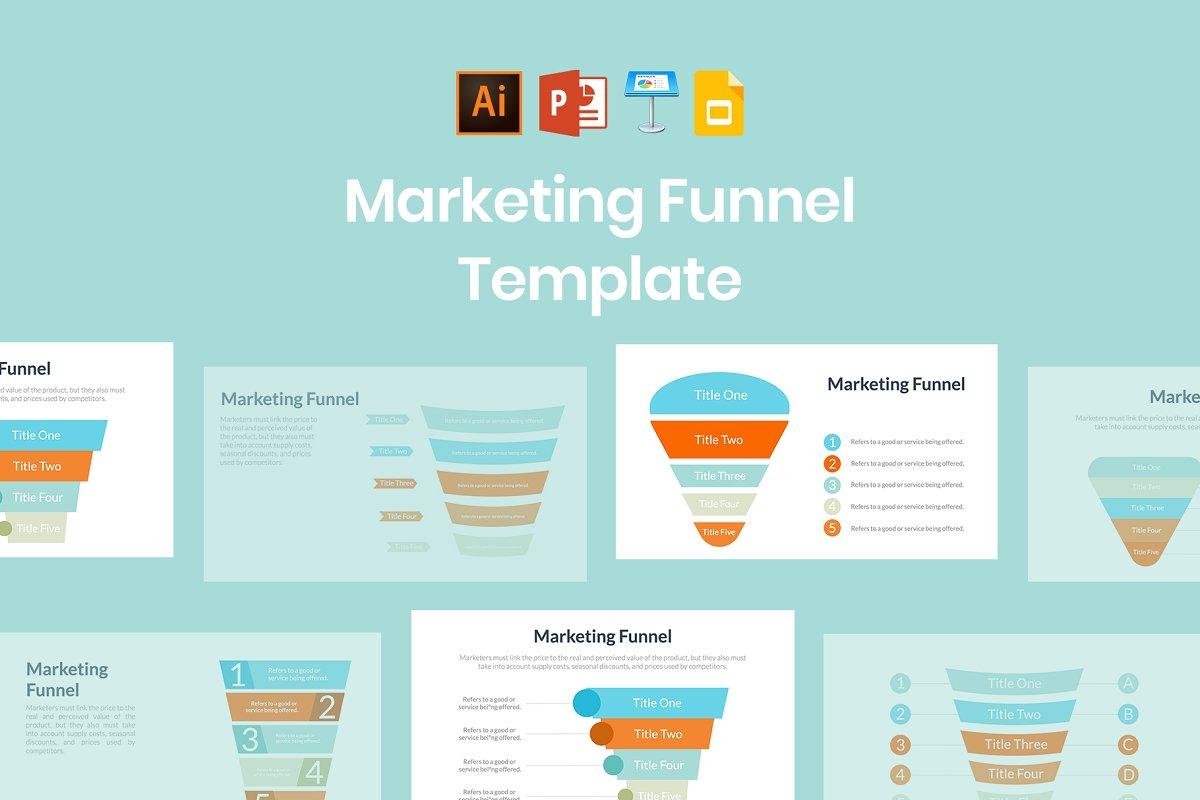 Marketing Funnel Template Keynote Templates Creative Market