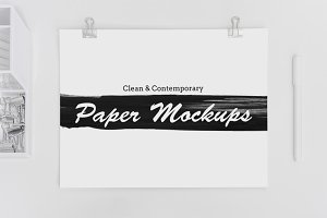 8 Clean & Contemporary Paper Mockups