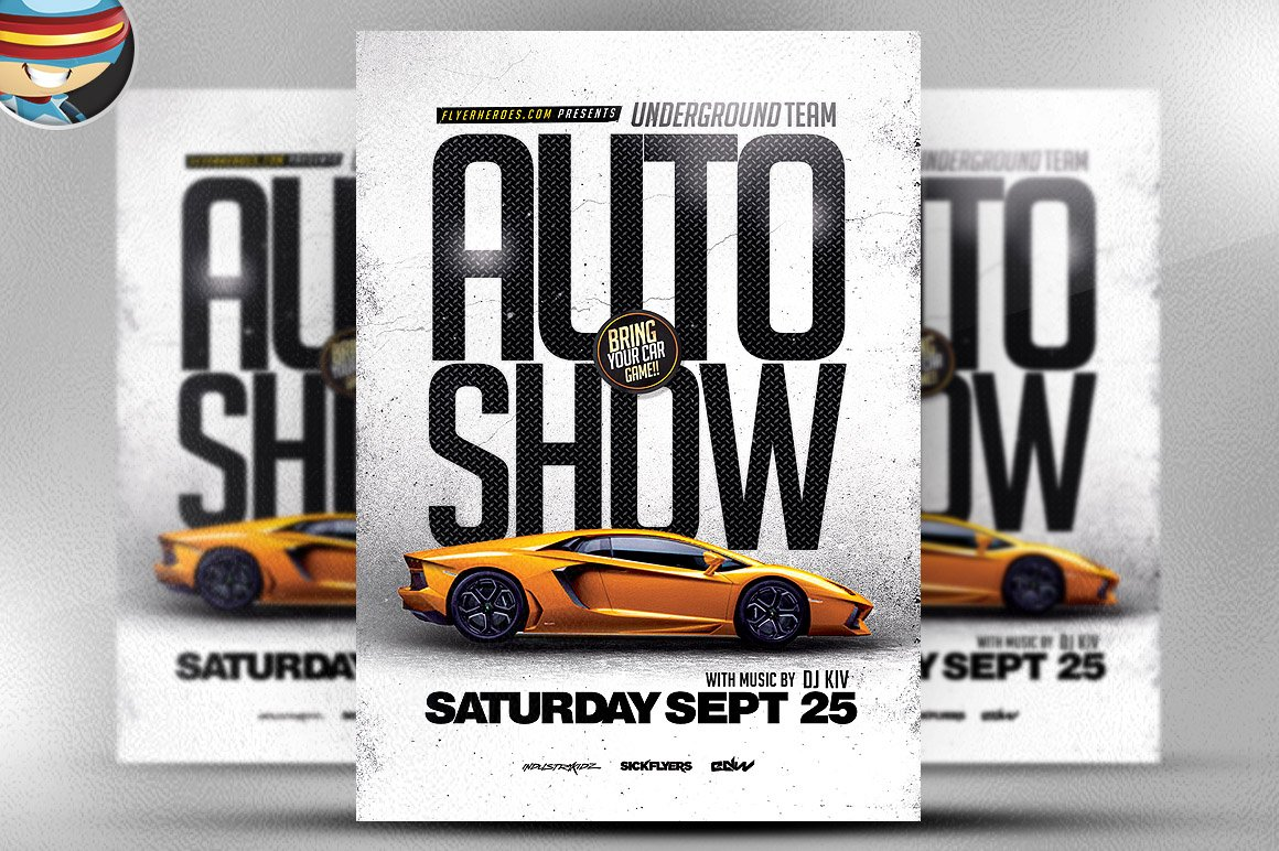 car wash flyer template flyer templates on creative market auto show flyer template