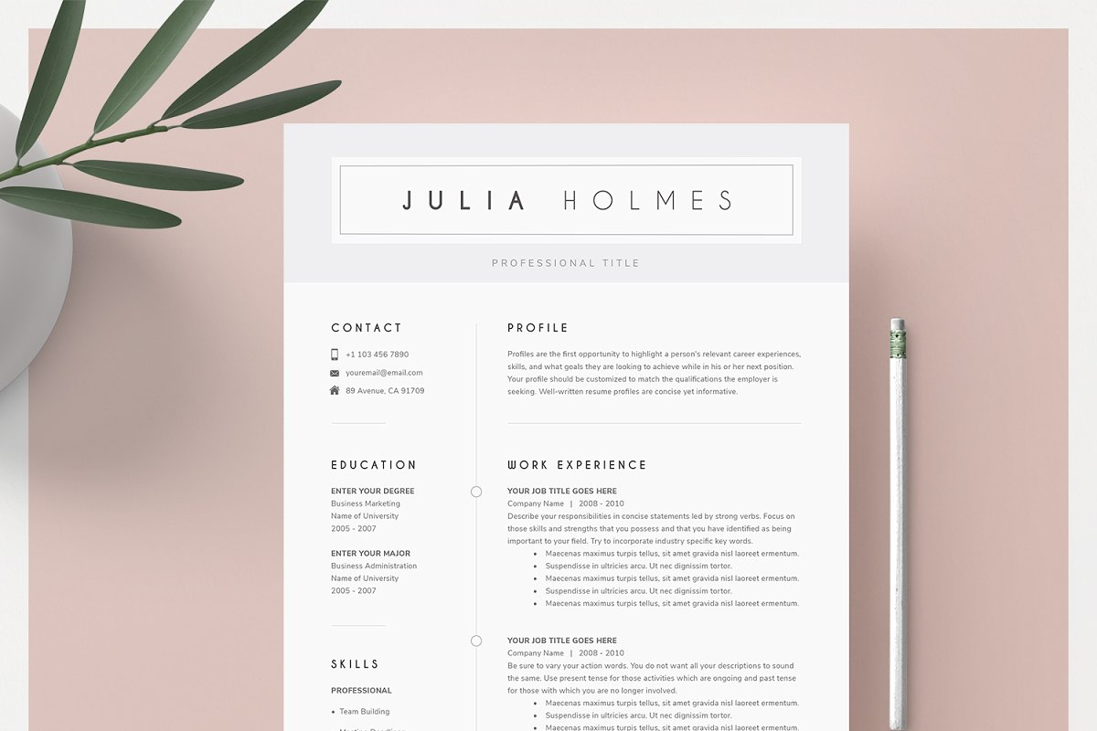Resume Template & Cover Letter ~ Cover Letter Templates ...