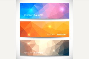 Abstract banners collection.