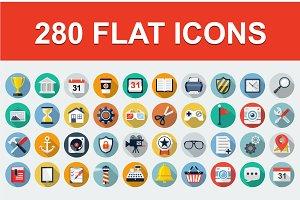 280 Flat Web icons.