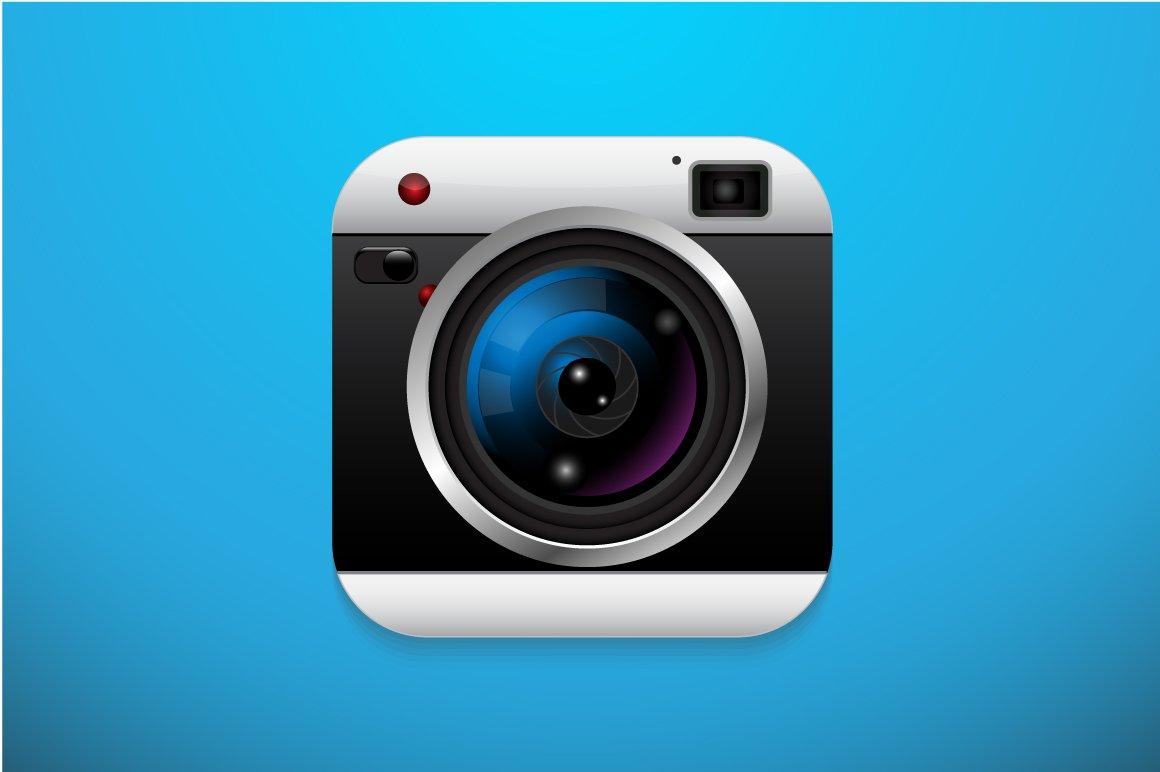 Application camera icon icons creative market for Camera gratis