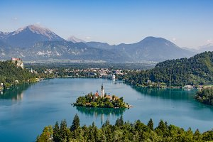 A perfect view on lake Bled