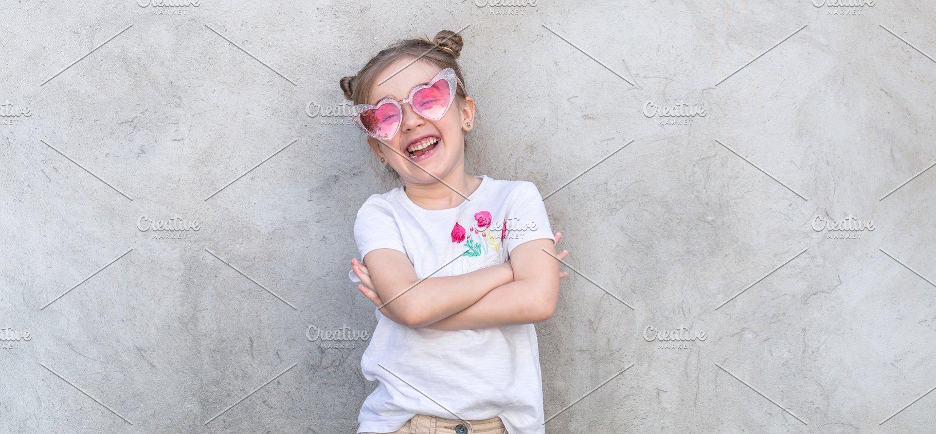 2f36a7571 Cheerful little girls on gray bg ~ People Photos ~ Creative Market