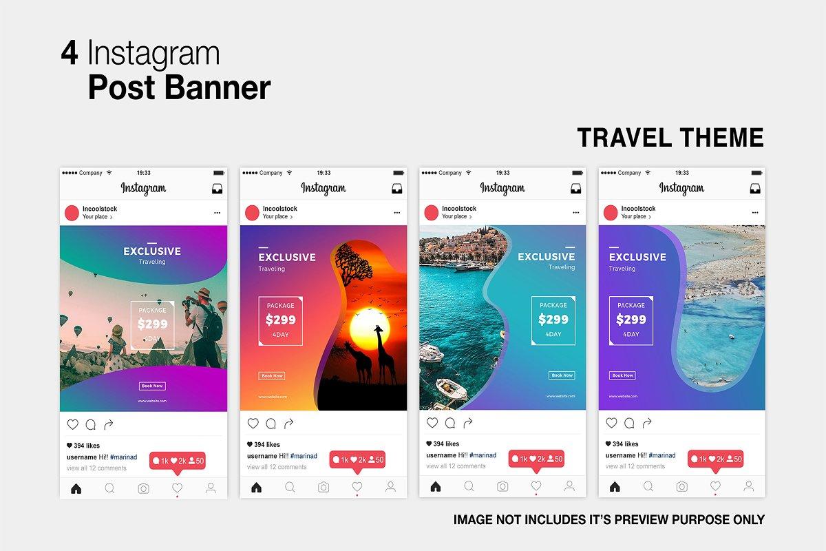 Travel Instagram Post