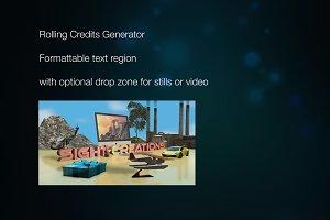 Rolling Credits Generator