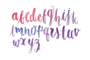 watercolor typography vector