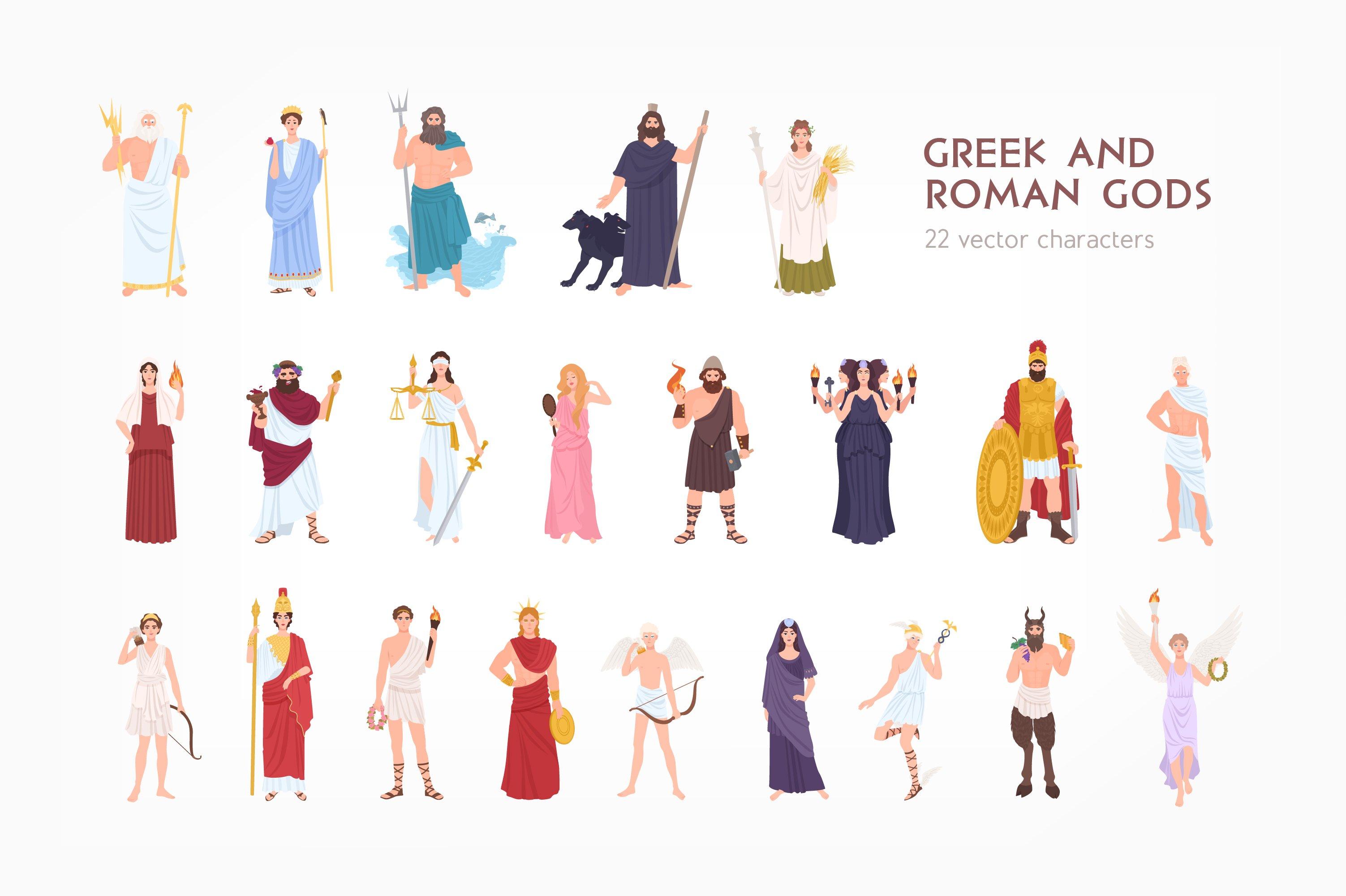 Greek And Roman Gods Pre Designed Photoshop Graphics Creative Market