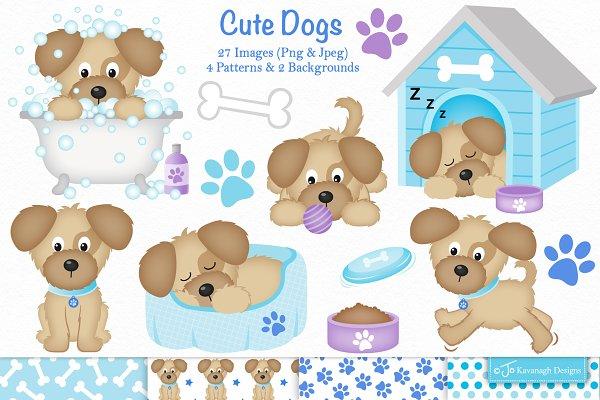 Cute Dogs Clipart C35 Pre Designed Photoshop Graphics Creative Market