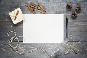 Blank sheet of paper with compositio