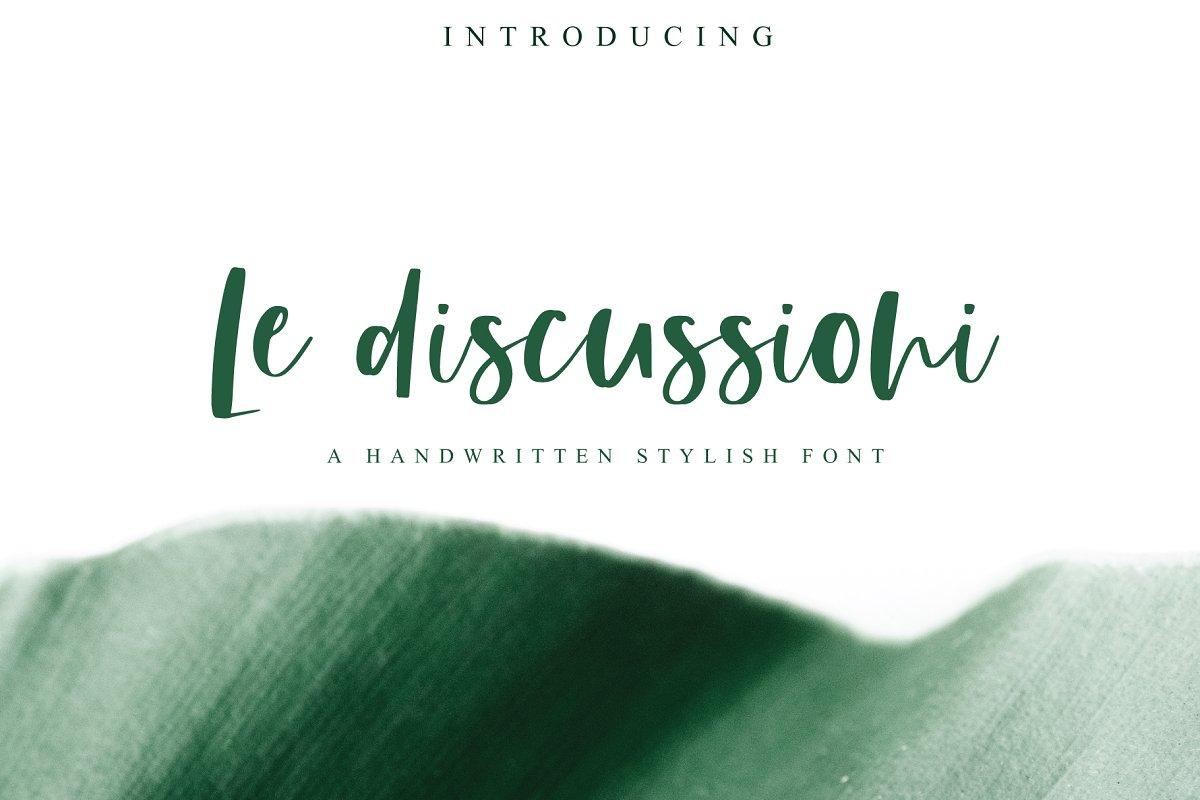 Le Discussioni | Stylish Font