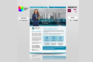 InDesign Corporate Flyer-3 color-V93