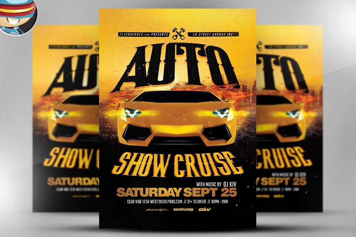 Auto Show Flyer Template 2 ~ Flyer Templates ~ Creative Market