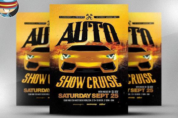 Auto Show Flyer Template 2 Flyer Templates on Creative Market – Car Show Flyer Template