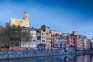 Girona at night