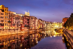 Girona at night