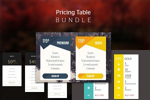 Pricing Table - Bundle